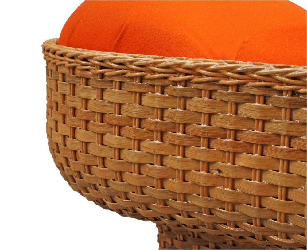 Voluptuous Basket Weave Armchair For Sale 4