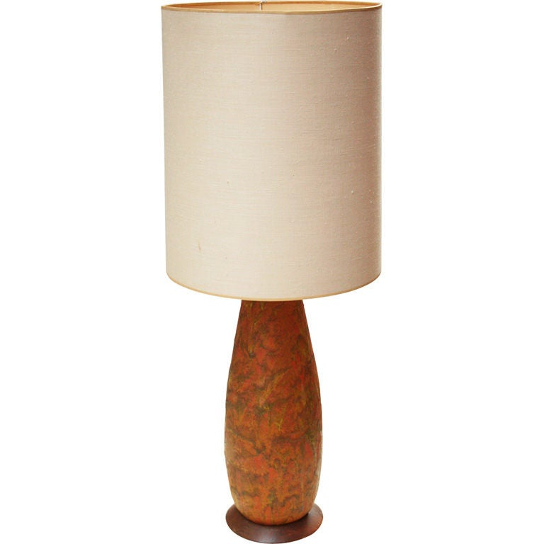 Lava Glaze Ceramic Table Lamp After Fantoni For Sale At