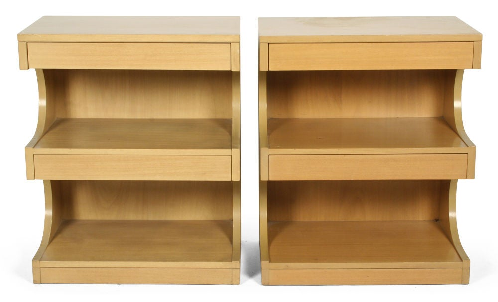 Elm Pair of Tempo Group Nightstands by Drexel For Sale