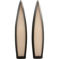Pair of Elongated Tear Drop Lantern Table Lamps