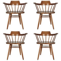 Set of Four Captain's Chairs by George Nakashima