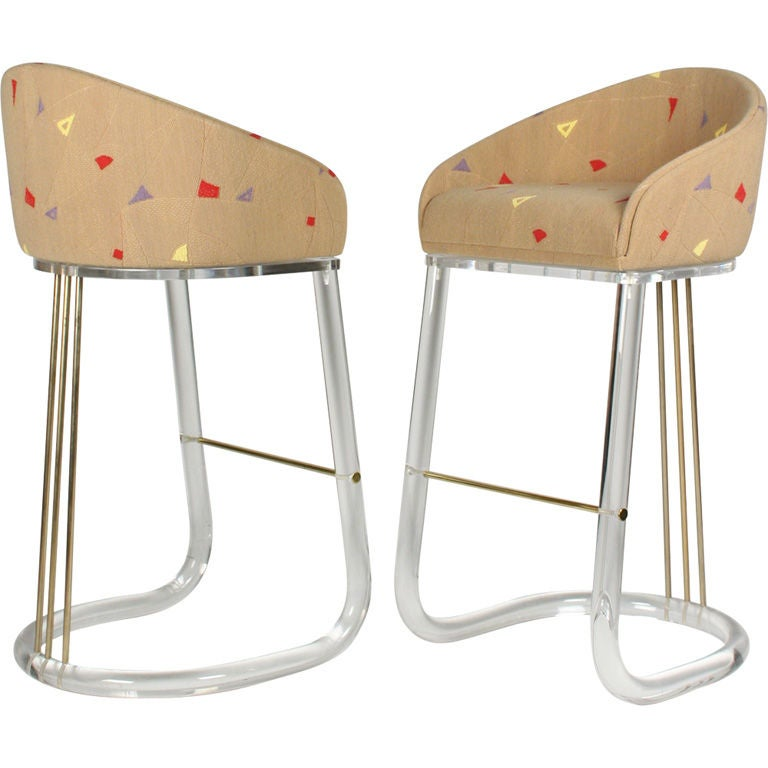 Pair of Lucite Barrel Back Swiveling Bar Stools by Leon  : XXX804013146278331 from www.1stdibs.com size 768 x 768 jpeg 47kB