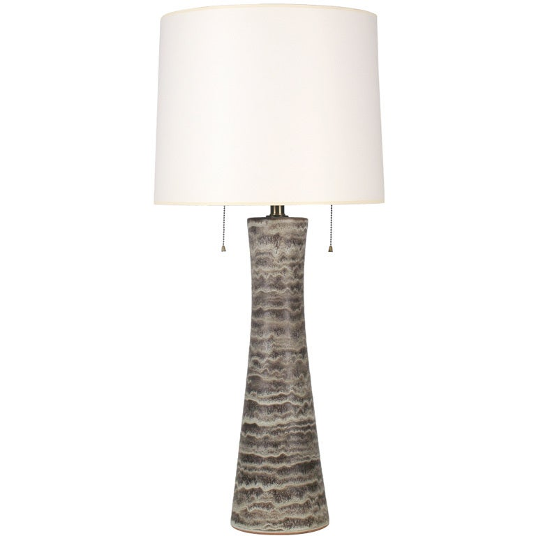 Tall Splayed Cone Ceramic Table Lamp By Design Technics At