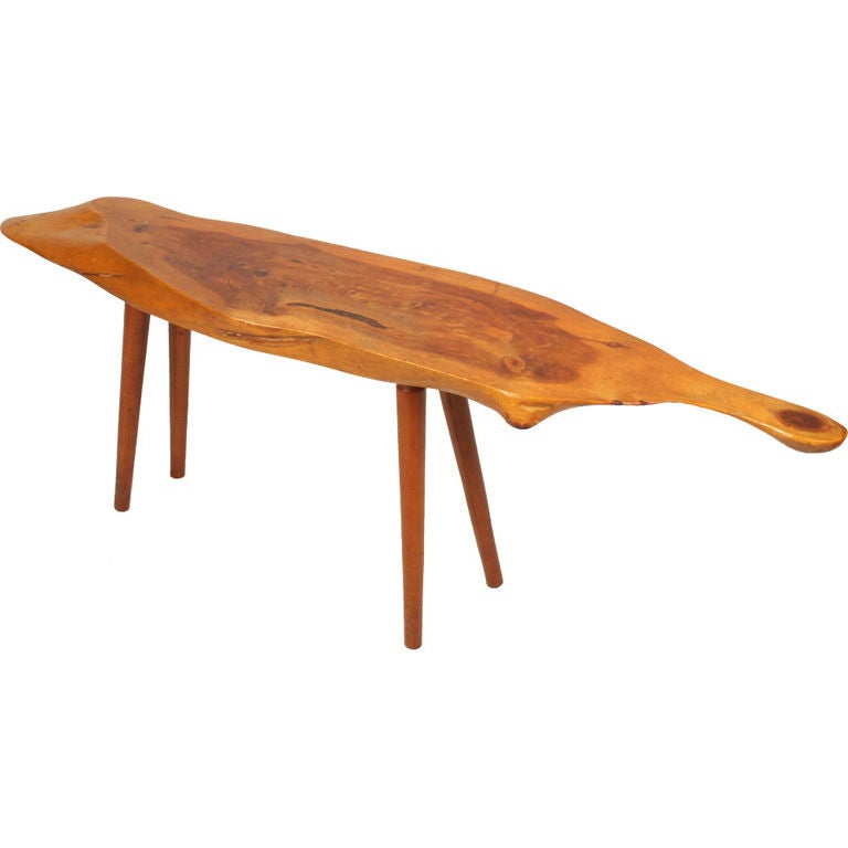 Narrow free edge cocktail table by roy sheldon at 1stdibs for Narrow cocktail table