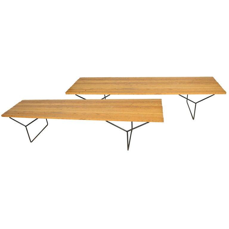 Slat Bench by Harry Bertoia for Knoll