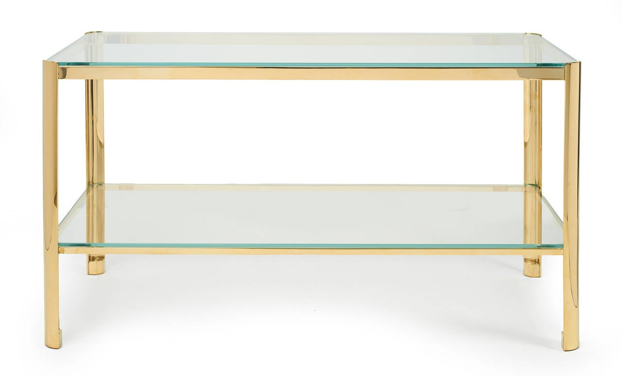 Bronze and Glass Cocktail Table by Jacques Quinet for Maison Malabert 2