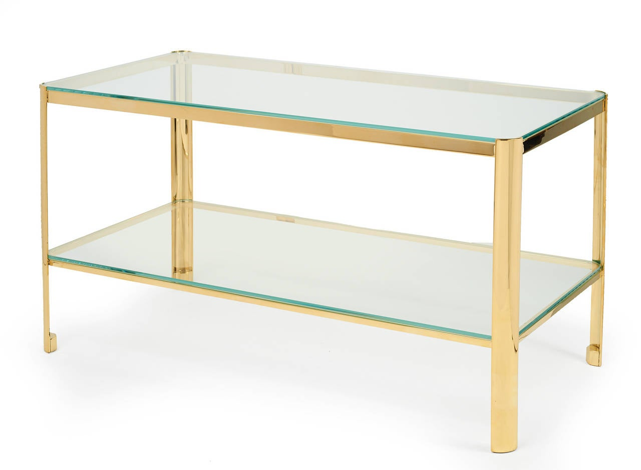 Bronze and Glass Cocktail Table by Jacques Quinet for Maison Malabert 4