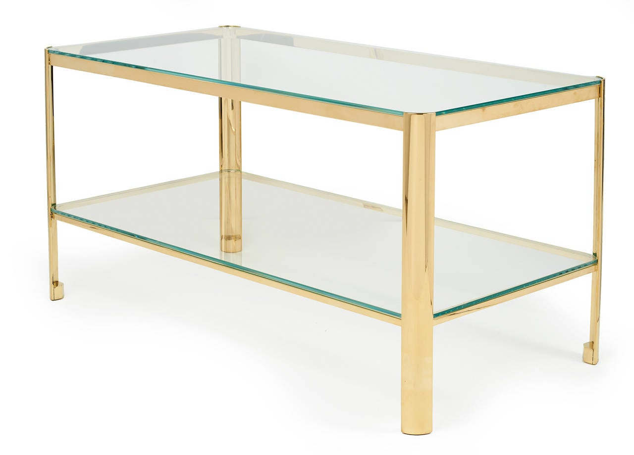 Bronze and Glass Cocktail Table by Jacques Quinet for Maison Malabert 3