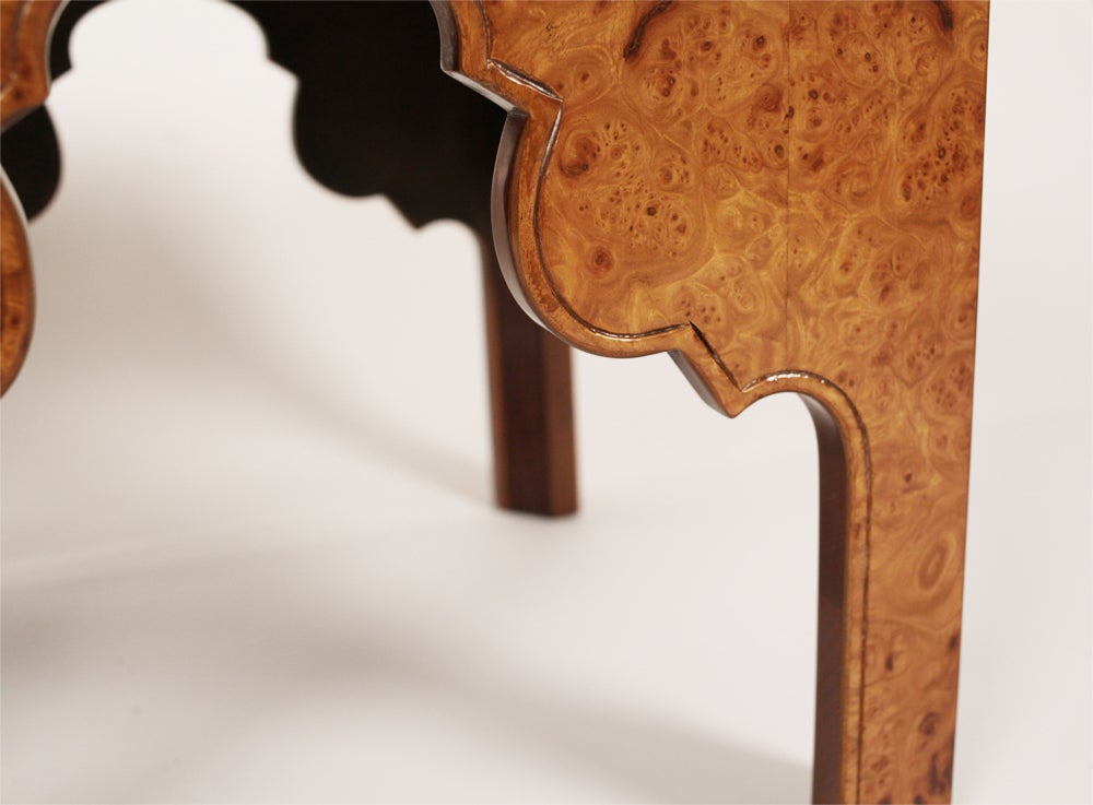 Pair of Burl Silhouette Occasional Tables by Drexel 9