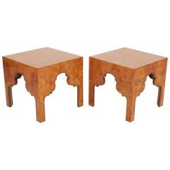 Pair of Burl Silhouette Occasional Tables by Drexel