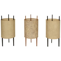 "Set of Three ""Cylinder"" Table Lights by Isamu Noguchi for Knoll"