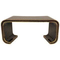 Penshell, Brass Waterfall Console Table by Maitland-Smith, Ltd.