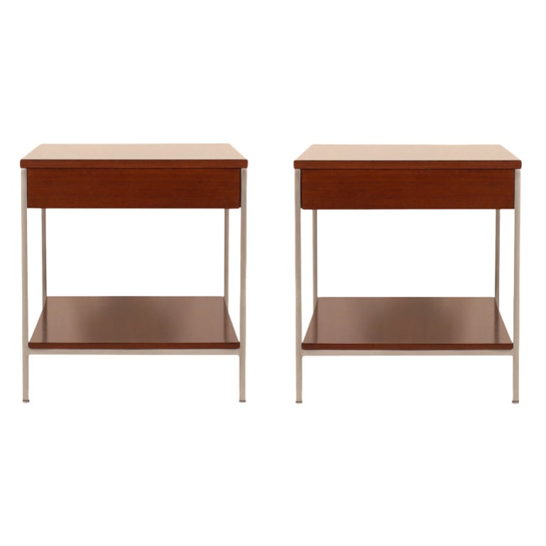 Pair of Single Drawer End Tables by George Nelson for Herman Miller