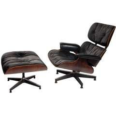 Exceptional Chair and Ottoman by Charles Eames for Herman Miller