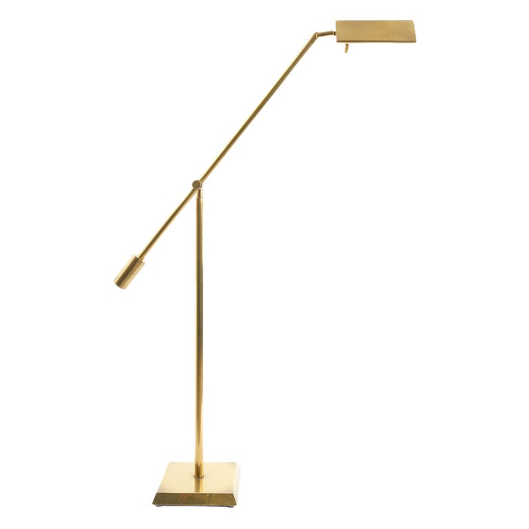 Counter balance adjustable brass floor lamp by chapman at 1stdibs