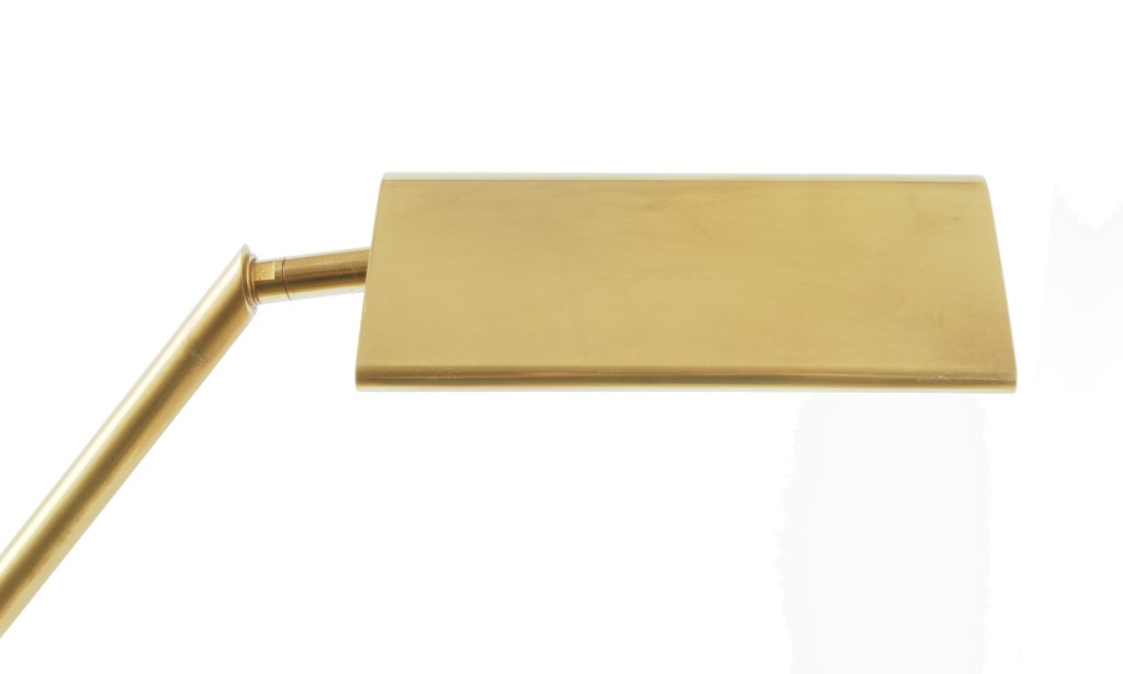 Counter Balance Adjustable Brass Floor Lamp By Chapman At