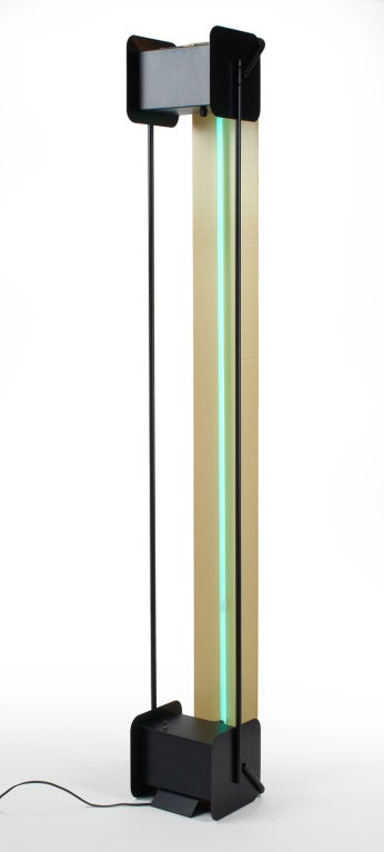 Post Modern Neon Light Sculpture Torchiere after Rudi Stern In Excellent Condition For Sale In New York, NY