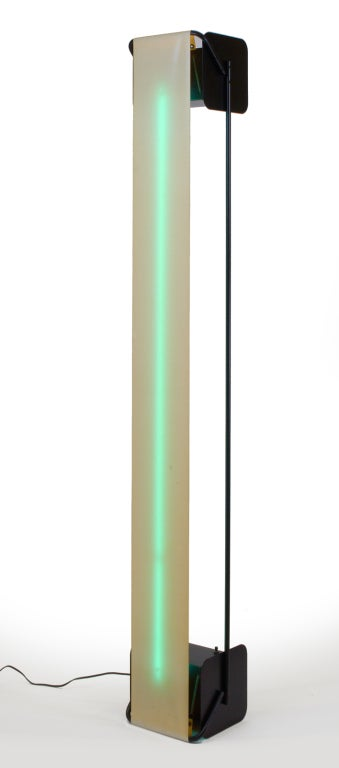 20th Century Post Modern Neon Light Sculpture Torchiere after Rudi Stern For Sale