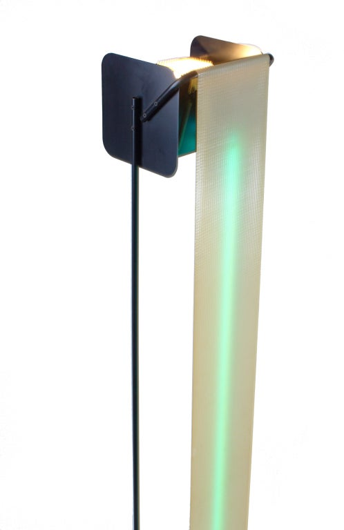 Post Modern Neon Light Sculpture Torchiere after Rudi Stern For Sale 1