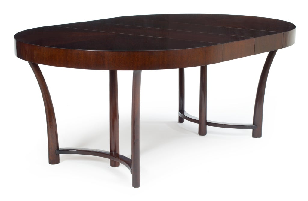 Art Deco Round and Racetrack Dining Table after T.H. Robsjohn-Gibbings for Widdicomb For Sale