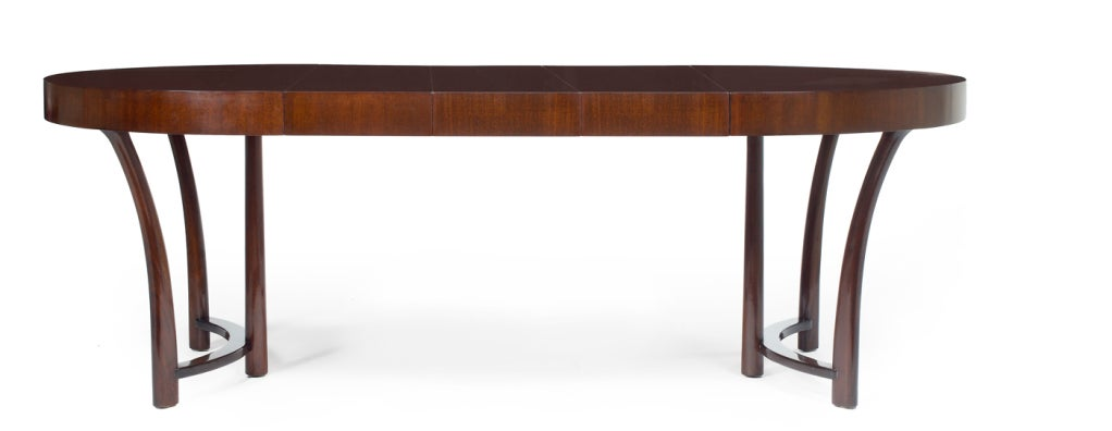 American Round and Racetrack Dining Table after T.H. Robsjohn-Gibbings for Widdicomb For Sale