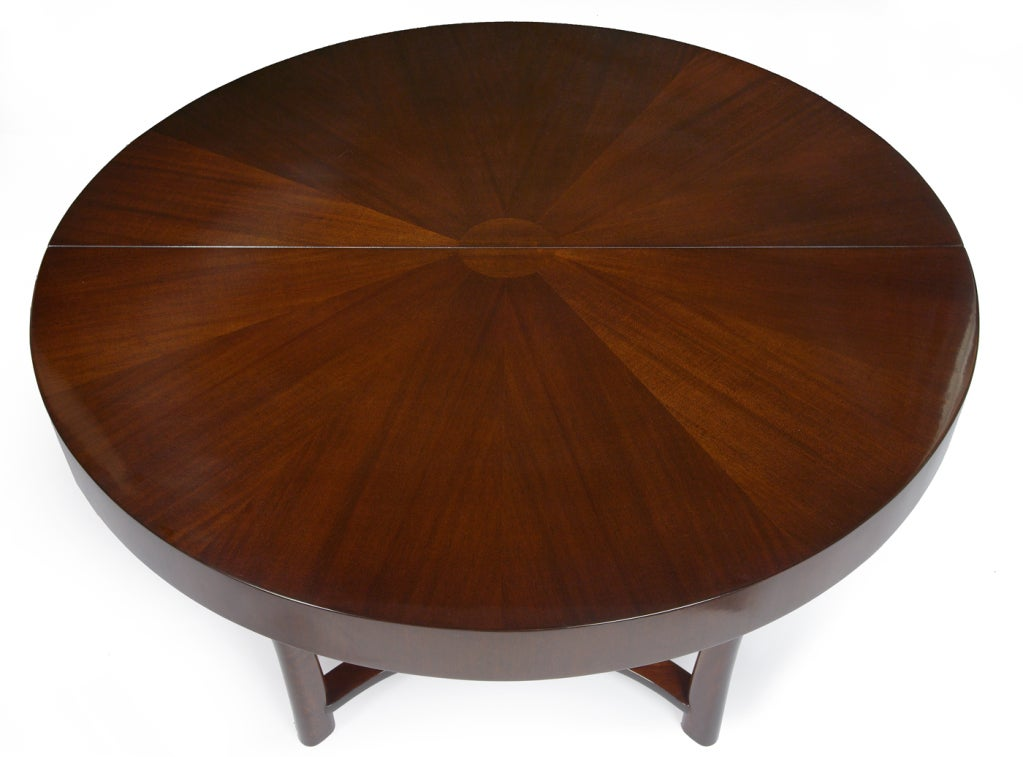 Stained Round and Racetrack Dining Table after T.H. Robsjohn-Gibbings for Widdicomb For Sale