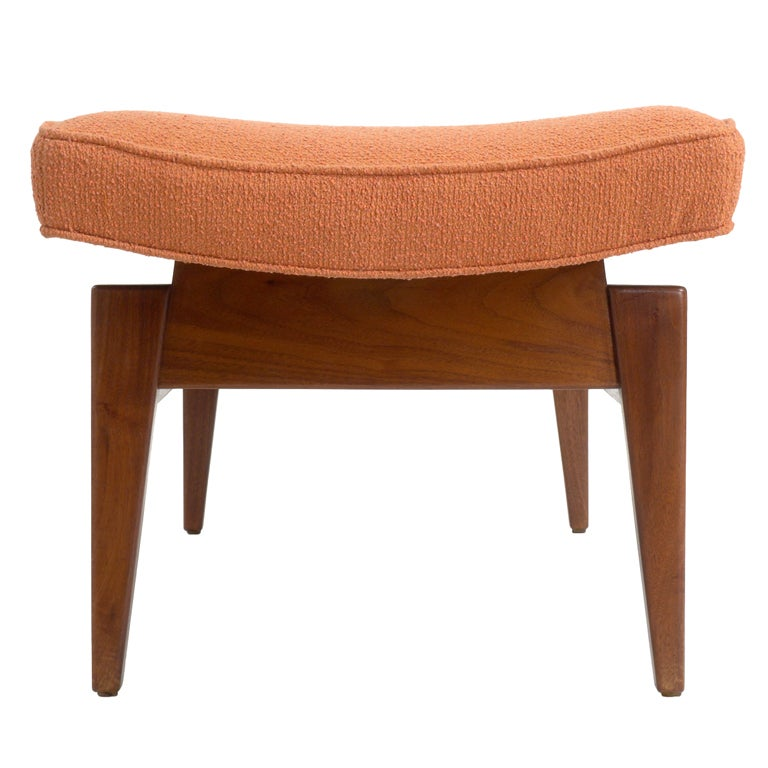 Six foot long floating upholstered bench by jens risom at 1stdibs Long upholstered bench