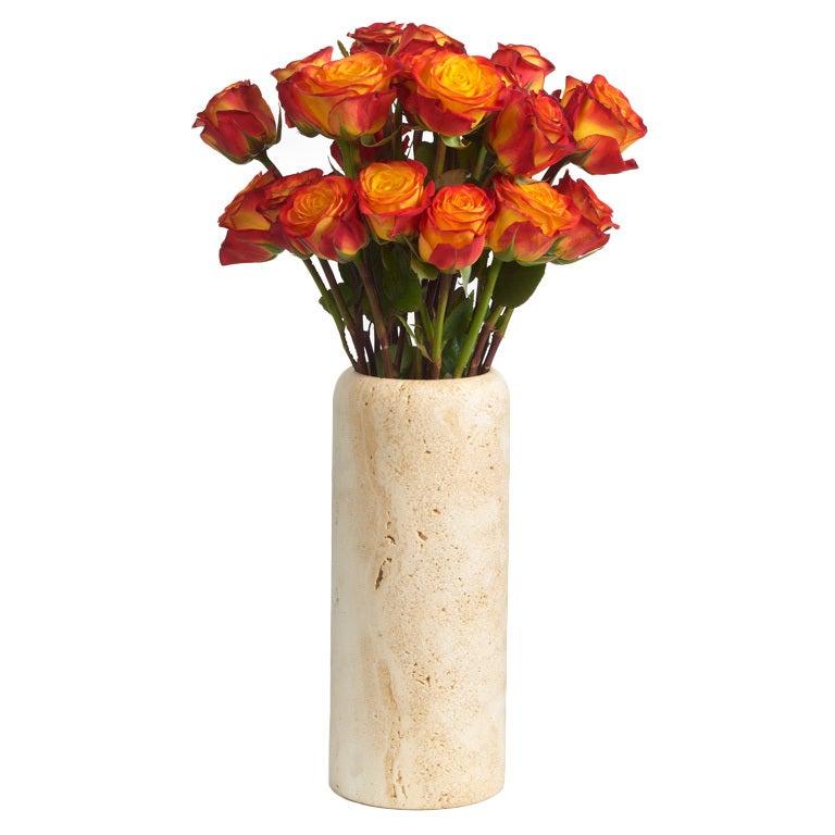 Italian Travertine Vase after Enzo Mari