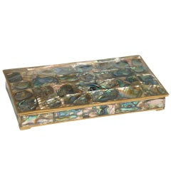 Alpaca Mexican Abalone Keepsake Box after Salvador Teran