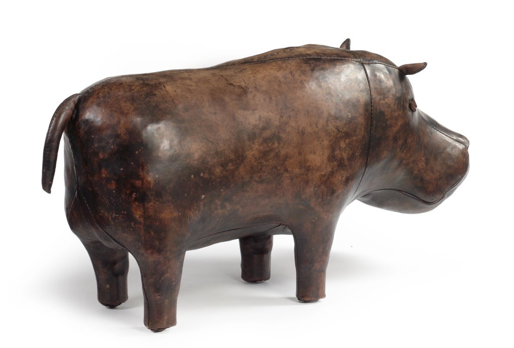 this stuffed leather hippo by omersa is no longer available