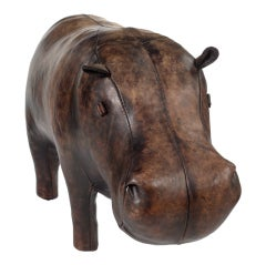 Stuffed Leather Hippo by Omersa