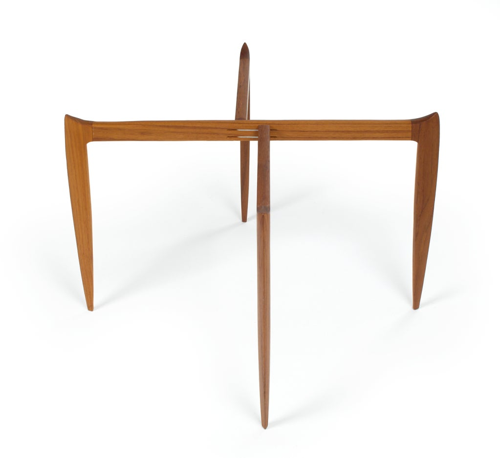 Mid 20th Century Set Of Fold Away Tray Top Side Tables From Fritz Hansen For