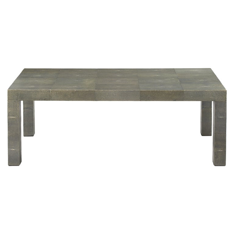 Shagreen Cocktail Table After R U0026 Y Augousti For Sale