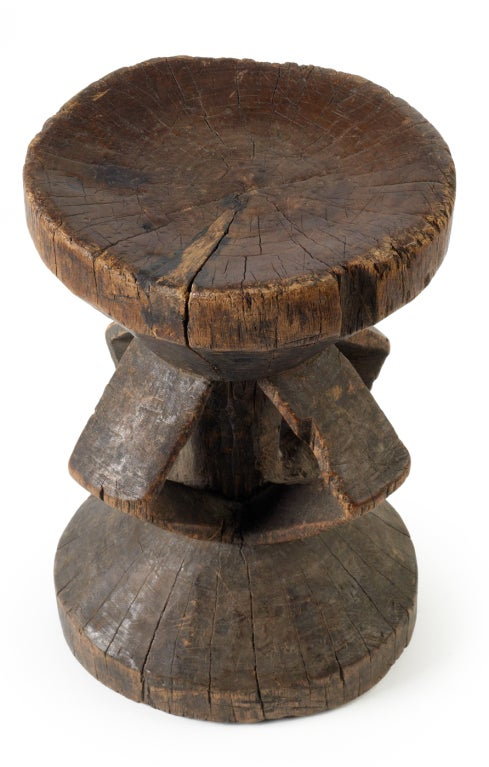 Carved African Tonga Chigaro Stool At 1stdibs