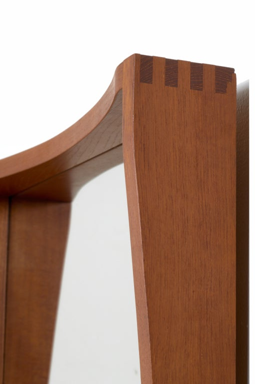 Tall and narrow danish teak entry way mirror for sale at for Tall skinny mirror