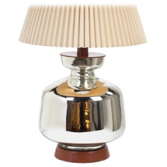 Giant Mercury Glass Table Lamp