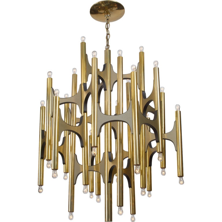 Lightolier Ring Chandelier At 1stdibs: Arch And Tube Chandelier By Sciolari For Lightolier At 1stdibs