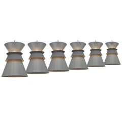 Set of Six Perforated Double Cone Pendants by Gerald Thurston