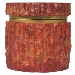 Round Alabaster Keepsake Box