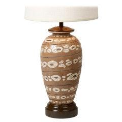 Art Deco 'Peau de Serpent' Ceramic Table Lamp by Rene Buthaud