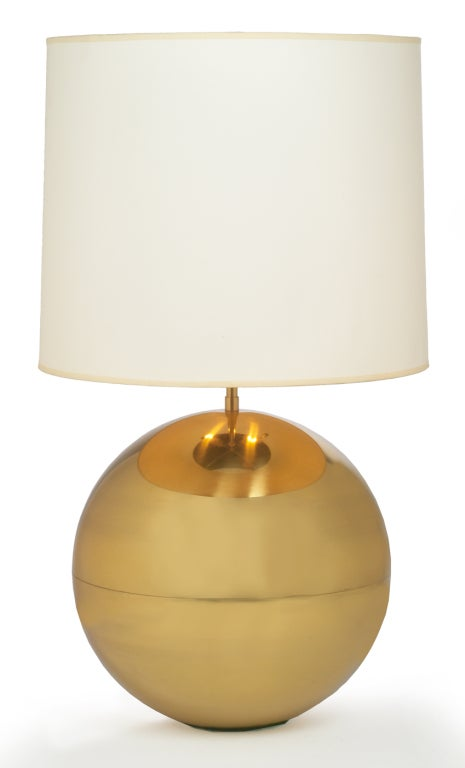 Polished Brass Ball Table Lamp By Karl Springer 3