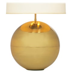 Polished Brass Ball Table Lamp by Karl Springer