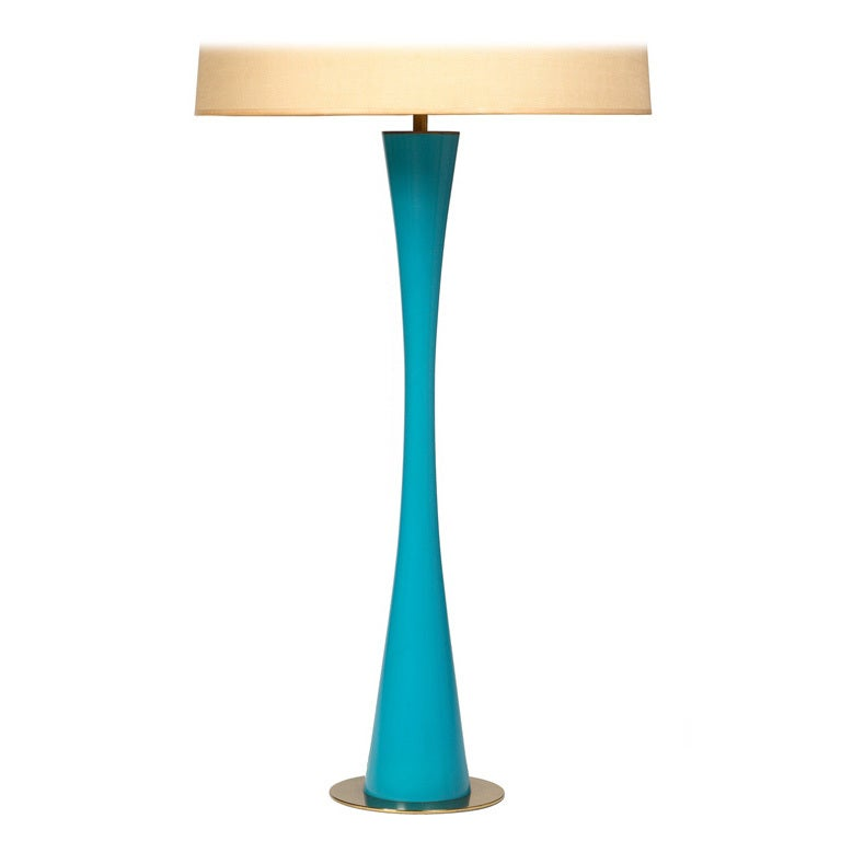 Pair of Lithe Azure Blue Table Lamps by Stewart Ross James for Hansen