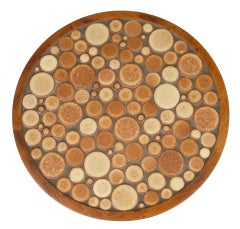 Brick Ceramic Coin Tile Occasional Table by Gordon Martz for Marshall Studios