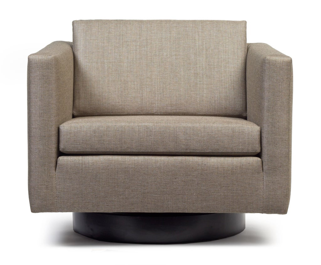 Pair Of Swivel Cube Lounge Chairs By Harvey Probber For Sale At 1stdibs