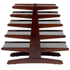 Mid Century Modern Magazine Tree by Edward Wormley for Dunbar