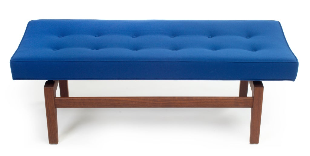 Pair of Four Foot Floating Upholstered Benches by Jens Risom 3