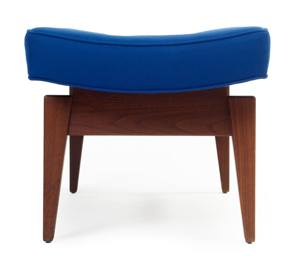 Mid-20th Century Pair of Four Foot Floating Upholstered Benches by Jens Risom For Sale