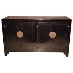 Refined and Elegant Black Lacquer Sideboard