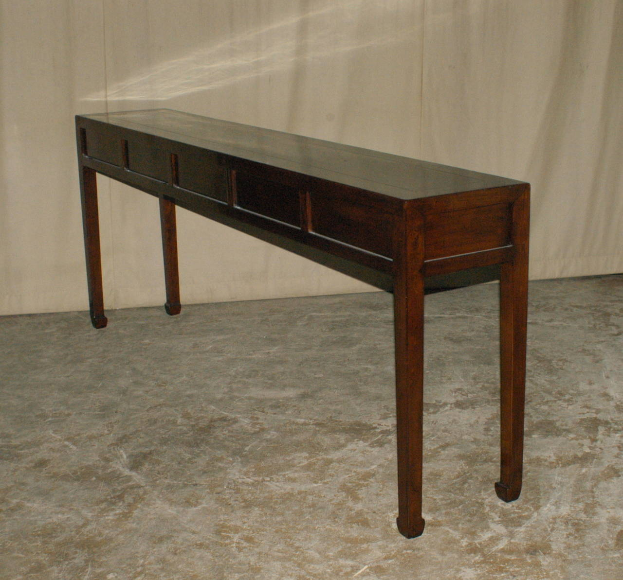 Very Impressive portraiture of Fine Ju Mu Wood Console Table with Drawers at 1stdibs with #332013 color and 1280x1193 pixels